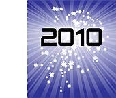 2010 fireworks vector