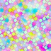 festive bubbles pattern