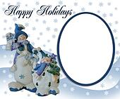 Christmas Snowman photo greeting card