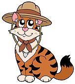Cute cat in scout hat