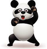 Vector illustration of Funny panda