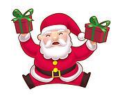Jumping Cute Santa