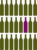 Wine bottles pattern