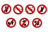 Interdiction gorilla  pawprint  symbol signs
