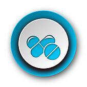 medicine blue modern web icon on white background