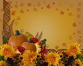 Thanksgiving Autumn Background Border