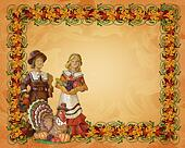 Thanksgiving  Pilgrims Border