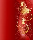 christmas red and gold  background