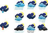 Night weather icons