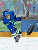Vancouver ice hockey player