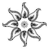 Mandala decorative elements