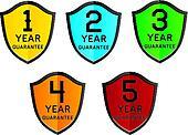 colorful 1,2,3,4,5 year guarantee