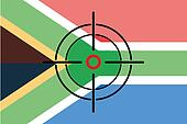 Sniper Scope on the flag of South Africa