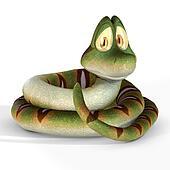 Cute Toon Snake #01