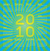 Colorful Calendar 2010