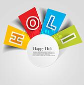 abstract colorful background for stylish  holi text festival design vector