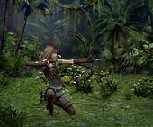 A little Hunter in the Jungle, 3d CG