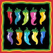 chili pepper icon set