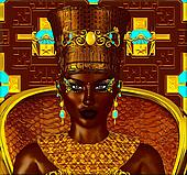 Black Egyptian princess,digital art