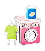 A view of washing machine