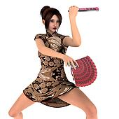 woman who dance with fans