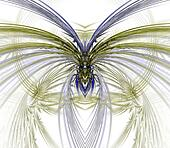 Fanning Wings Abstract