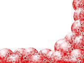 Christmas Red Corner Frame
