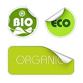Set of labels for organic food