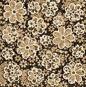 Faded Sepia Floral Pattern