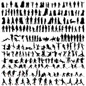 bigest collection of people silhouettes