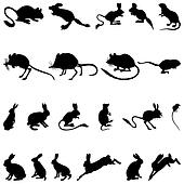 rodents silhouettes