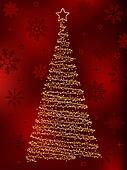 Decorative christmas fir tree