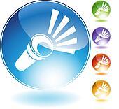 flashlight crystal icon