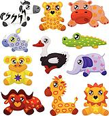 African toy animals