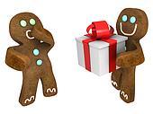 Gingerbread man present
