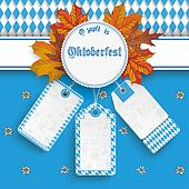Oktoberfest Price Stickers Autumn Foliage