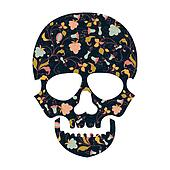 Day of The Dead  Skull with floral