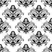 Ornate floral persian seamless pattern