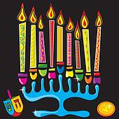 Happy Chanukah Menorah