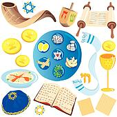 jewish clip art icons and symbols