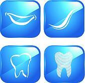 teeth and dental icons