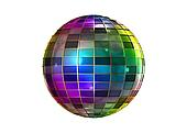 Full color strange disco ball