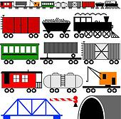 Train Engine and Cars