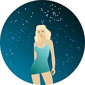 Pretty blond dancing girl