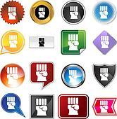 Freedom Fist  Icon Set