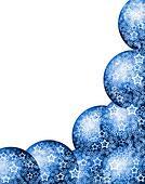 Christmas Blue Corner Frame