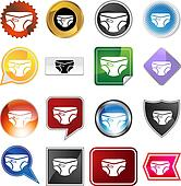 Diaper Icon Set