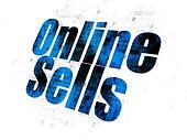 Marketing concept: Online Sells on Digital background