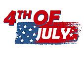 4th of July with stars over drawing flag - USA American Independence Day