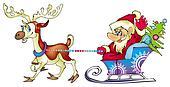 Santa the traveler